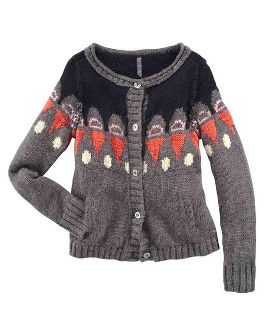 FUGA vlnený pletený sveter, šedá