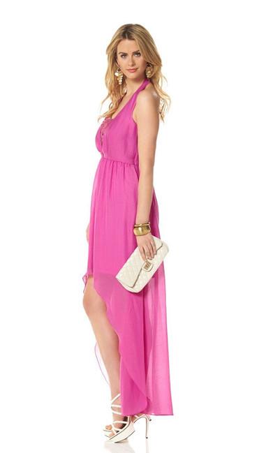 Jessica Simpson šifónové šaty, ružová