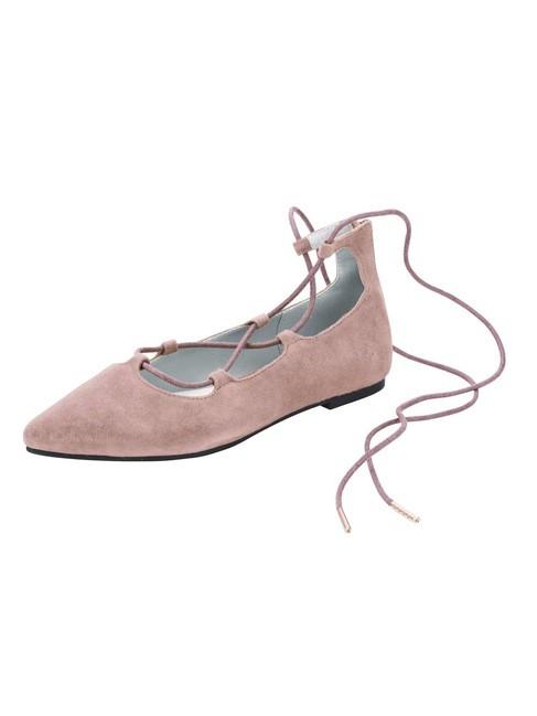 Kožené baleríny Andrea Conti, ružová