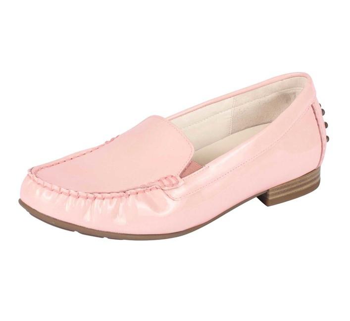 Kožené lakované topánky Gabor, ružové