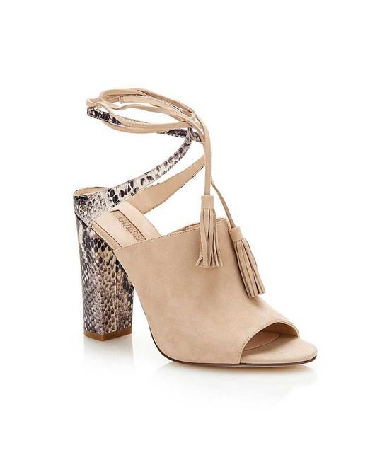 Kožené sandále GUESS Elicha, béžová