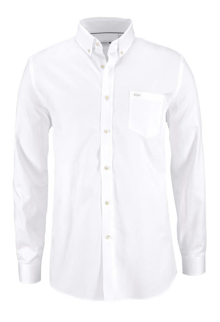 94c6c291c2269 LACOSTE pánska košeľa, biela - Pánske košele - Locca.sk