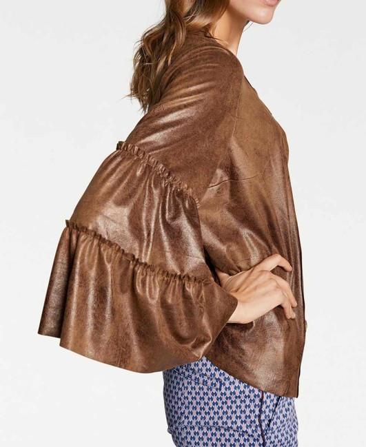 Luxusná bunda v imitácii kože Rick Cardona, koňak