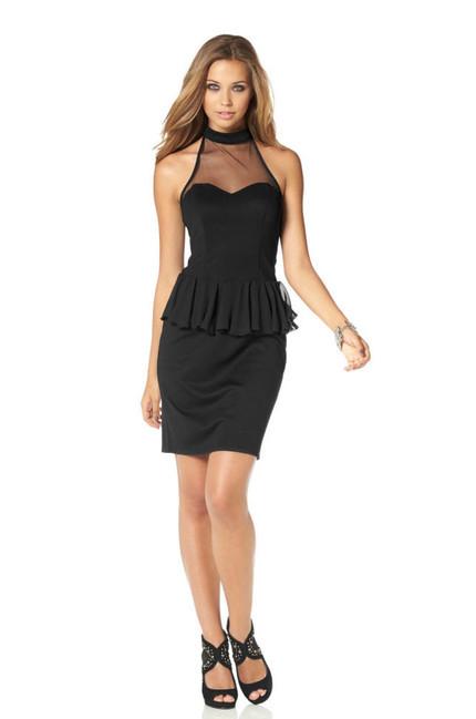 4e6a4564622d Malé čierne peplum šaty BUFFALO - Spoločenské šaty - Locca.sk