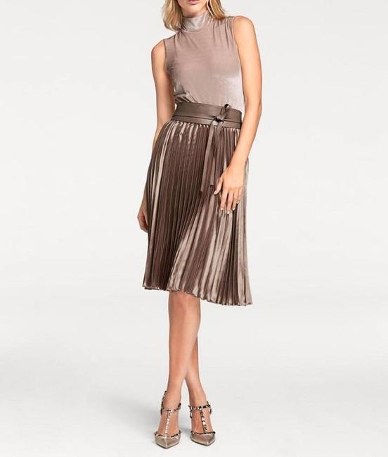 Plisovaná sukňa, metalická