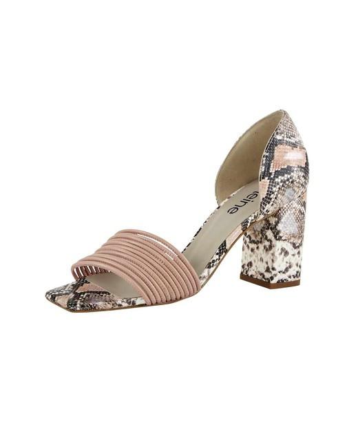 Sandále s ramienkami a hadím vzorom Heine, ružová