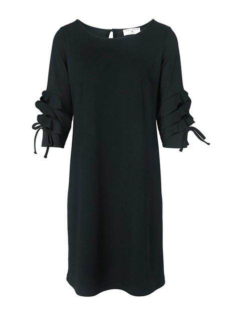 Šaty s volánikmi Rick Cardona, čierna