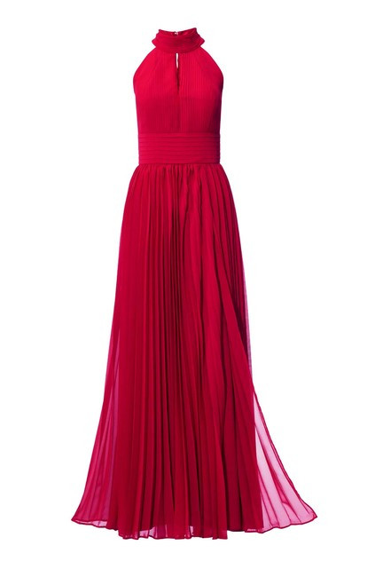 3f512e1da0b3 Šifónové červené večerné šaty - Spoločenské