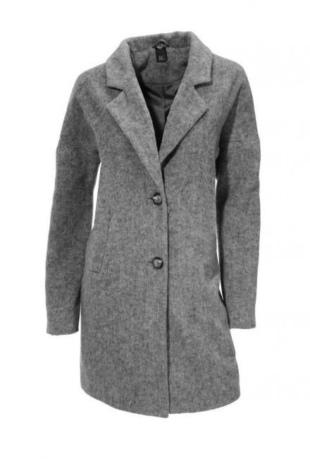 d96002a298ca Sivý vlnený kabát s kožušinou HEINE - B.C. - Dámske flaušové kabáty ...