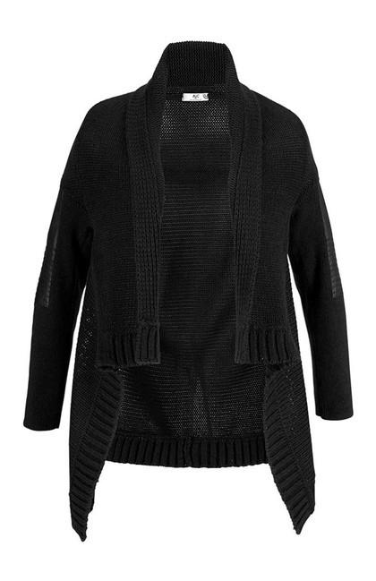 Štýlový sveter s imitáciou kože AJC