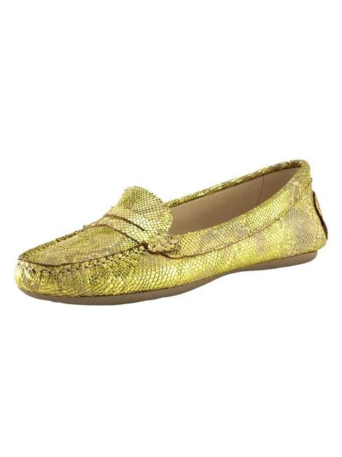 Topánky z nappa kože Heine, žltá-metalická
