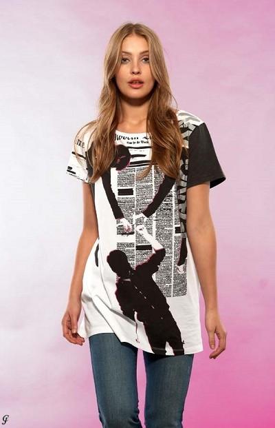 Vzorované tričko MUSIK HILFT