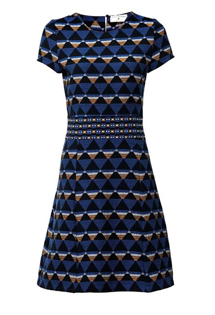 Žakarové šaty modrej farby  f1095d43fb2