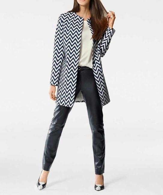 Žakarový kabát s cikcak vzorom Patrizia Dini - Kabáty pre moletky ... 35032b5738f
