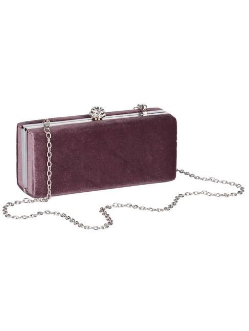Zamatová Clutch kabelka, staro-ružová
