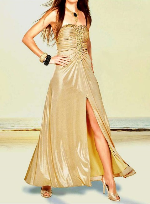 Zlaté spoločenské šaty APART - Spoločenské šaty - Locca.sk c03dd52da8