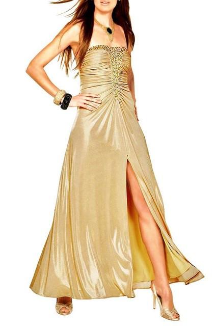 21802396eec Zlaté spoločenské šaty APART - Spoločenské šaty - Locca.sk