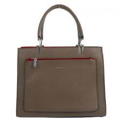 Elegantná kabelka SILVIA ROSA ekokoža - MK-504381- HNEDÁ