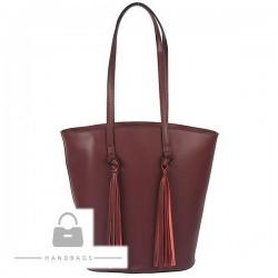Fashion kabelka bordová koža AW-483694-48