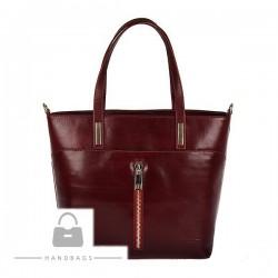 Fashion kabelka bordová koža AW-483710-48