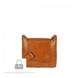 Fashion kabelka hnedá koža AW-483952-412