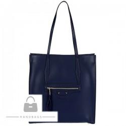 Fashion kabelka Import modrá koža AW-477113-354