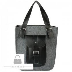 Fashion kabelka Import sivá filc AW-484339-440