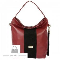 Fashion kabelka Marchello bordová ekokoža AW-485190-501
