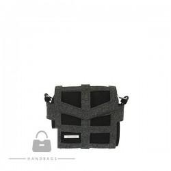 Fashion kabelka Riccaldi čierna filc AW-484102-100