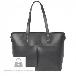 Fashion kabelka sivá koža AW-483729-323