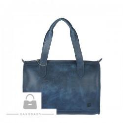 Fashion kabelka Torbalski modrá koža AW-483584-52