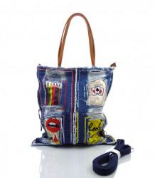Fashion trendová kabelka KIMBERLY - MK-493380-modrá