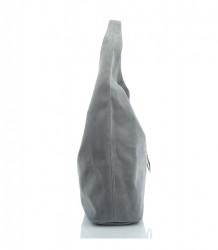 Kabelka cez rameno LAVA BAGS brúsená koža- MK-026558-svetlosivá #2