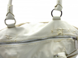 Poškodená značková talianska kabelka J&C biela ekokoža JC725-3
