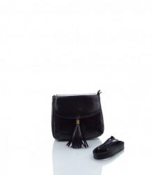 Talianska crossbody kabelka koža - MK-026227-čierna