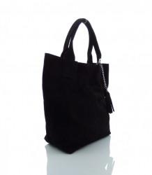 Talianska kabelka brúsená koža - MK-490992-čierna #1