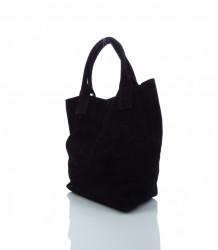 Talianska kabelka brúsená koža - MK-490992-čierna #2