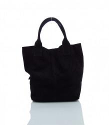 Talianska kabelka brúsená koža - MK-490992-čierna #3