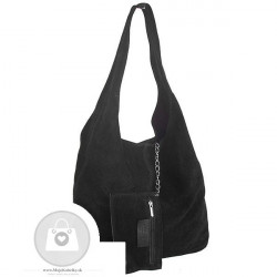 Talianska kabelka kožená Made in Italy - MK-498700-cierna