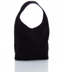 Talianska kabelka kožená Made in Italy - MK-498700-cierna #5