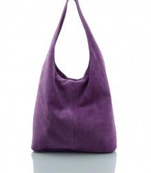 Talianska kabelka kožená Made in Italy - MK-498700-fialová #1