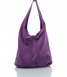 Talianska kabelka kožená Made in Italy - MK-498700-fialová #2