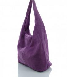 Talianska kabelka kožená Made in Italy - MK-498700-fialová #4