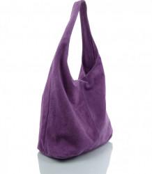 Talianska kabelka kožená Made in Italy - MK-498700-fialová #5