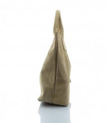 Talianska kabelka Made in Italy brúsená koža - MK-026221- béžová #2