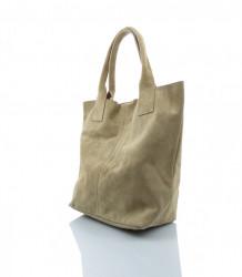 Talianska kabelka Made in Italy brúsená koža - MK-026221- béžová #3
