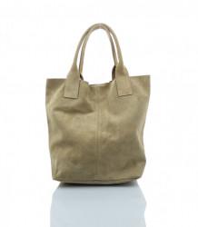 Talianska kabelka Made in Italy brúsená koža - MK-026221- béžová #4