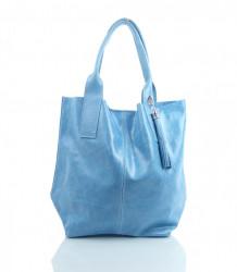 Talianska kabelka Made in Italy lesklá brúsená koža - MK-497156