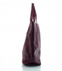 Talianska kožená kabelka - MK-498701 #9