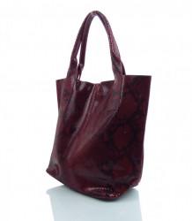 Talianska kožená kabelka - MK-498701 #10